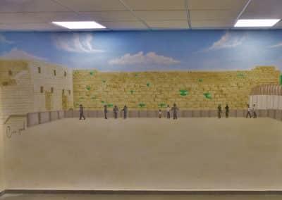 ציורי קיר - ציור קיר של הכותל המערבי