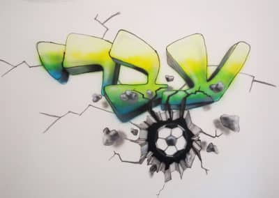 ציורי גרפיטי על קירות - גרפיטי עם שימות על הקיר - גרפיטי לילדים