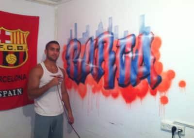 ציורי גרפיטי על קירות - גרפיטי של ברצלונה