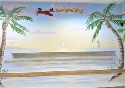 ציורי קיר איכותיים ביותר - ציור קיר מדהים של שקיעה