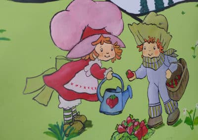 ציורי קיר לגני ילדים של תותית