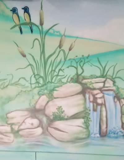 ציורי קיר מושקעים ביותר של הצייר מימון בדוש