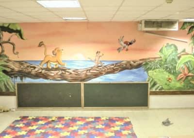 ציור קיר בגן ילדים