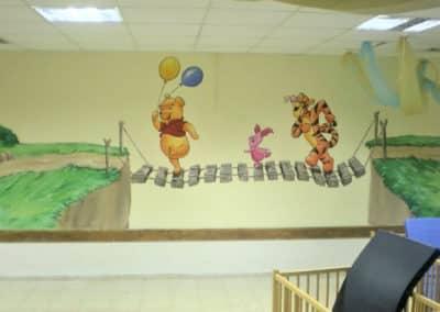 ציור קיר פו הדוב