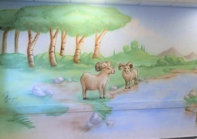 ציור קיר לילדים של רקע מקסים - MBart ציורי קיר