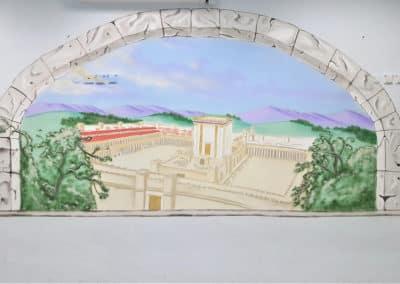 ציור קיר של בית המקדש - ציורי קיר לבתי כנסת