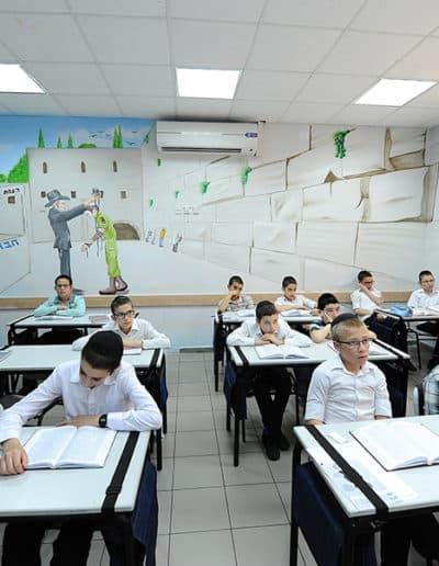 ציור קיר של הכותל המערבי - ציור קיר בבתי ספר