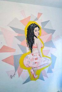 צייר על קירות - ציור של ניקי מינז
