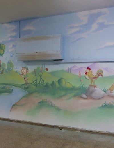 ציורי קיר לחדרי ילדים - גן משחקים לילדים מתוקים
