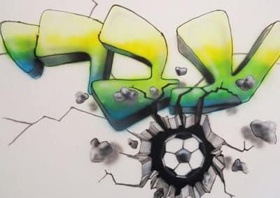 ציורי גרפיטי על קירות - צייר גרפיטי - ציורי קיר באייר ברש