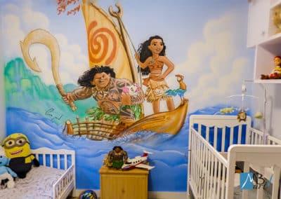 MBart ציורי קיר - ציור קיר של מואנה