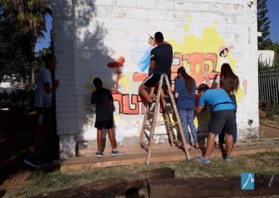 MBart ציורי קיר בשיתוף עם התלמידים