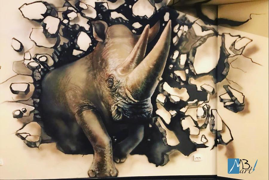 ציור קיר כמתנה לגבר
