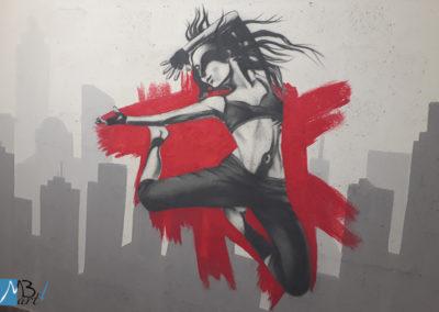 MBart ציורי קיר - ציורי קיר לנוער - ציור של ריקוד