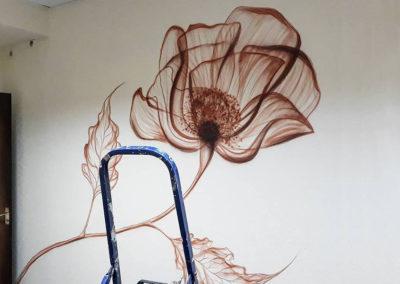 MBart ציורי קיר - ציור קיר בחדר שינה