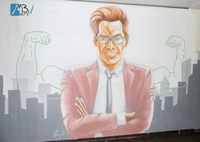 MBart ציורי קיר - ציור קיר בכניסה למשרדים - ציורי קיר למשרדים