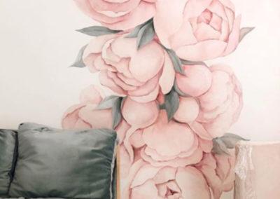 MBart ציורי קיר - ציור קיר בסלון